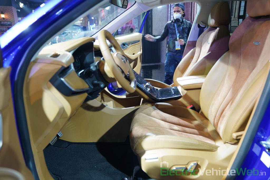 MG Marvel X front seats - Auto Expo 2020