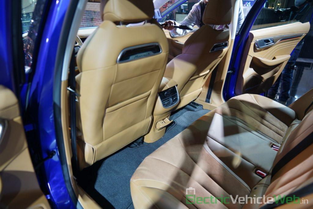 MG Marvel X rear seats - Auto Expo 2020