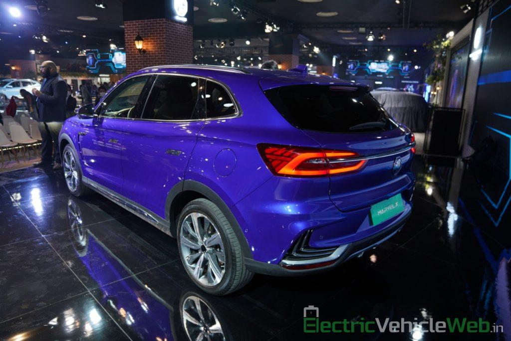 MG Marvel X rear three quarter view - Auto Expo 2020
