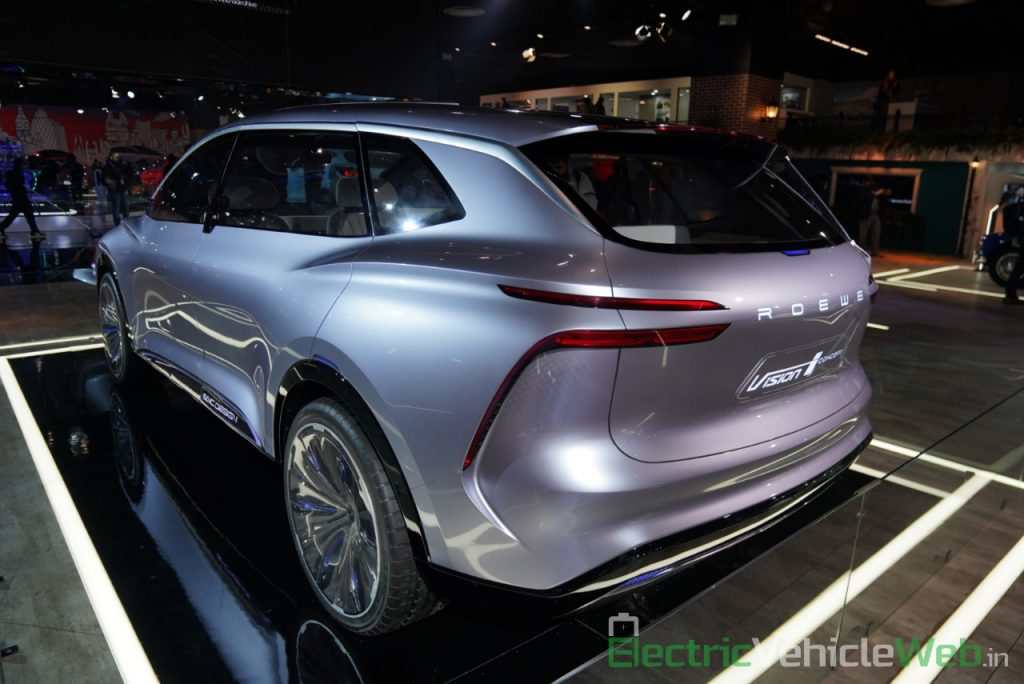 MG Vision-i (Roewe Vision i) Concept rear three quarter view - Auto Expo 2020