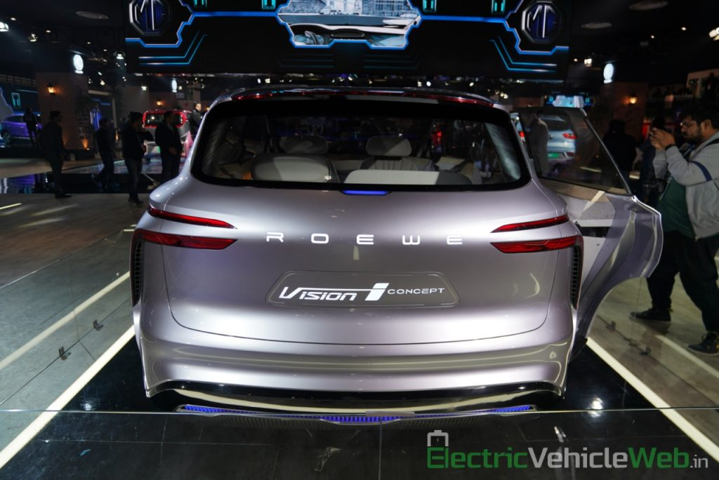 MG Vision-i (Roewe Vision i) Concept rear view - Auto Expo 2020