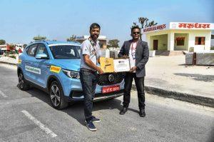 MG ZS EV Autocar India record run