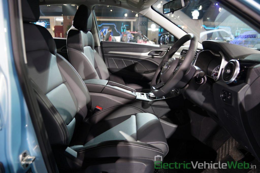 MG ZS EV front seats - Auto Expo 2020