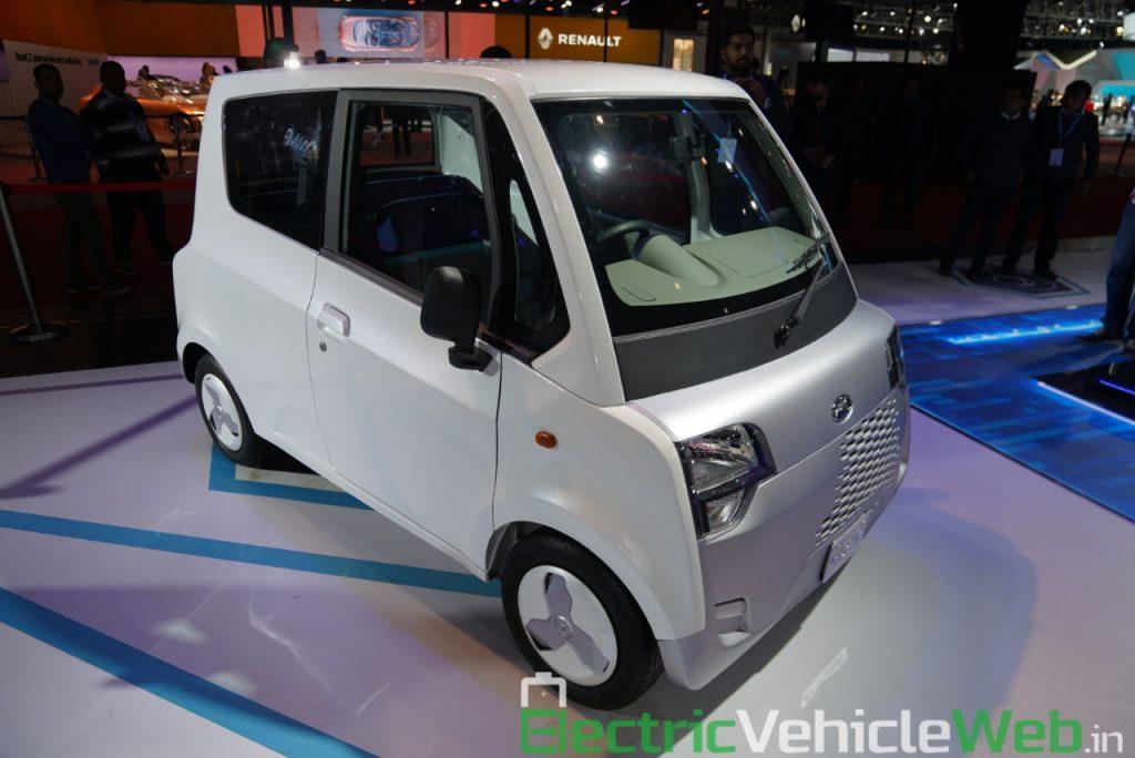 Mahindra Atom Electric front three quarter view 2 - Auto Expo 2020