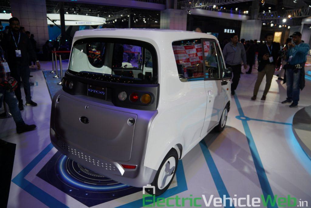Mahindra Atom Electric rear three quarter view 1 - Auto Expo 2020