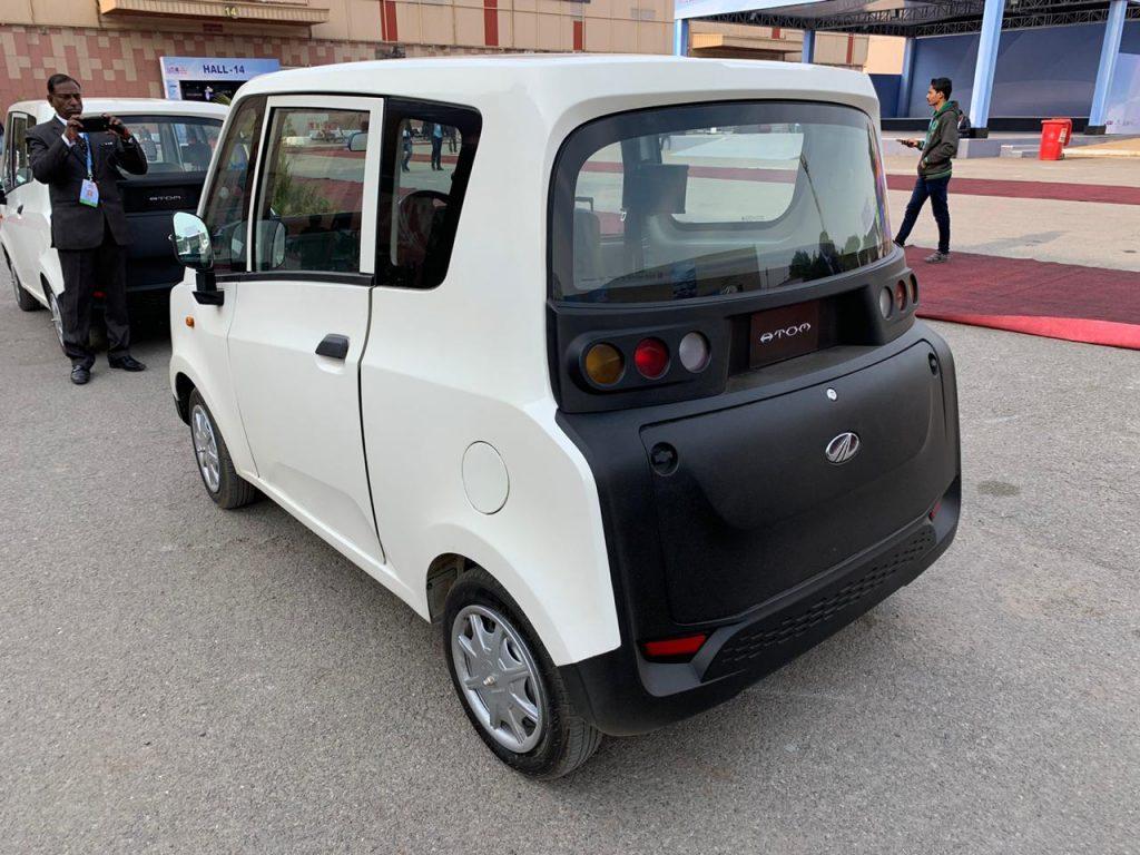 Mahindra Atom Electric rear three quarter view 2 - Auto Expo 2020