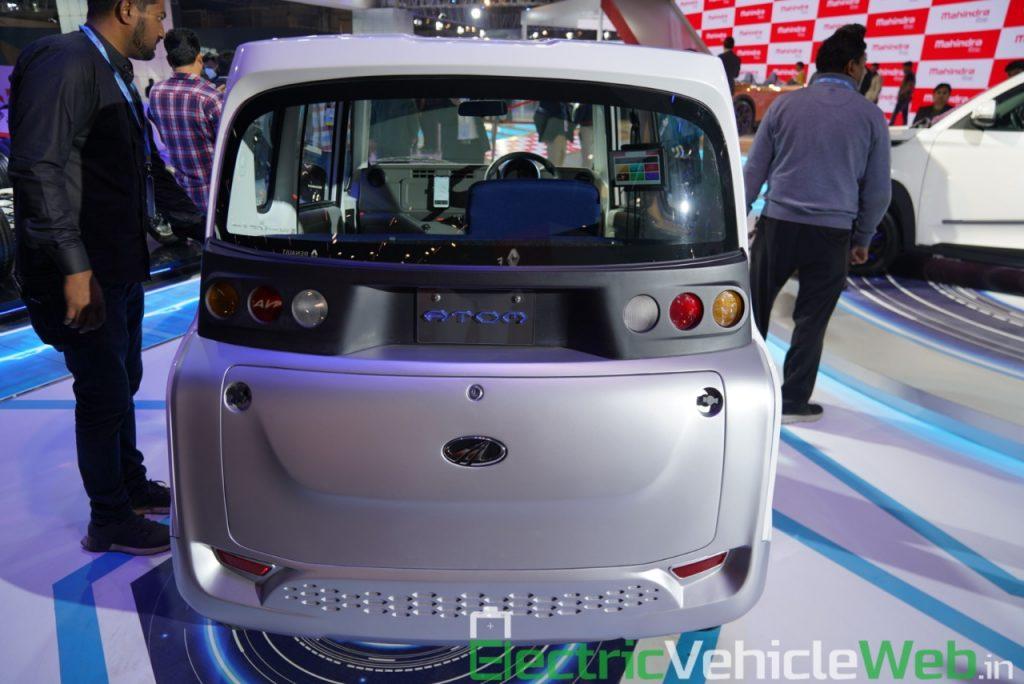 Mahindra Atom Electric rear view - Auto Expo 2020