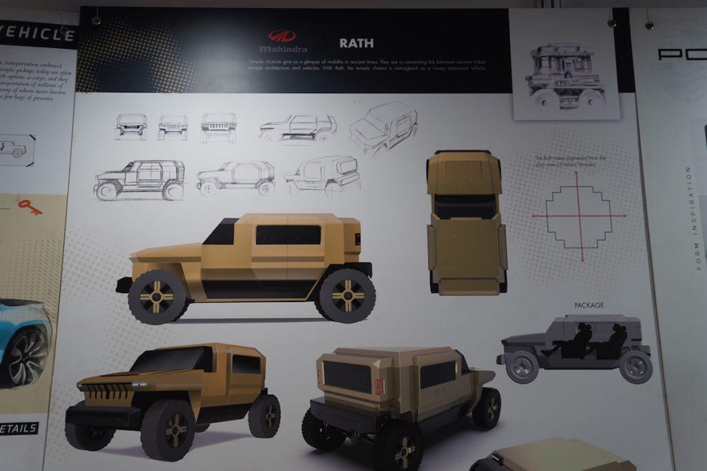 Mahindra Rath Concept sketches - Auto Expo 2020