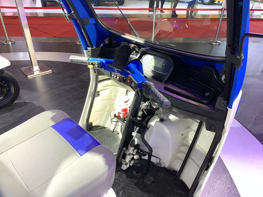 Mahindra Treo Zor load carrier dashboard - Auto Expo 2020