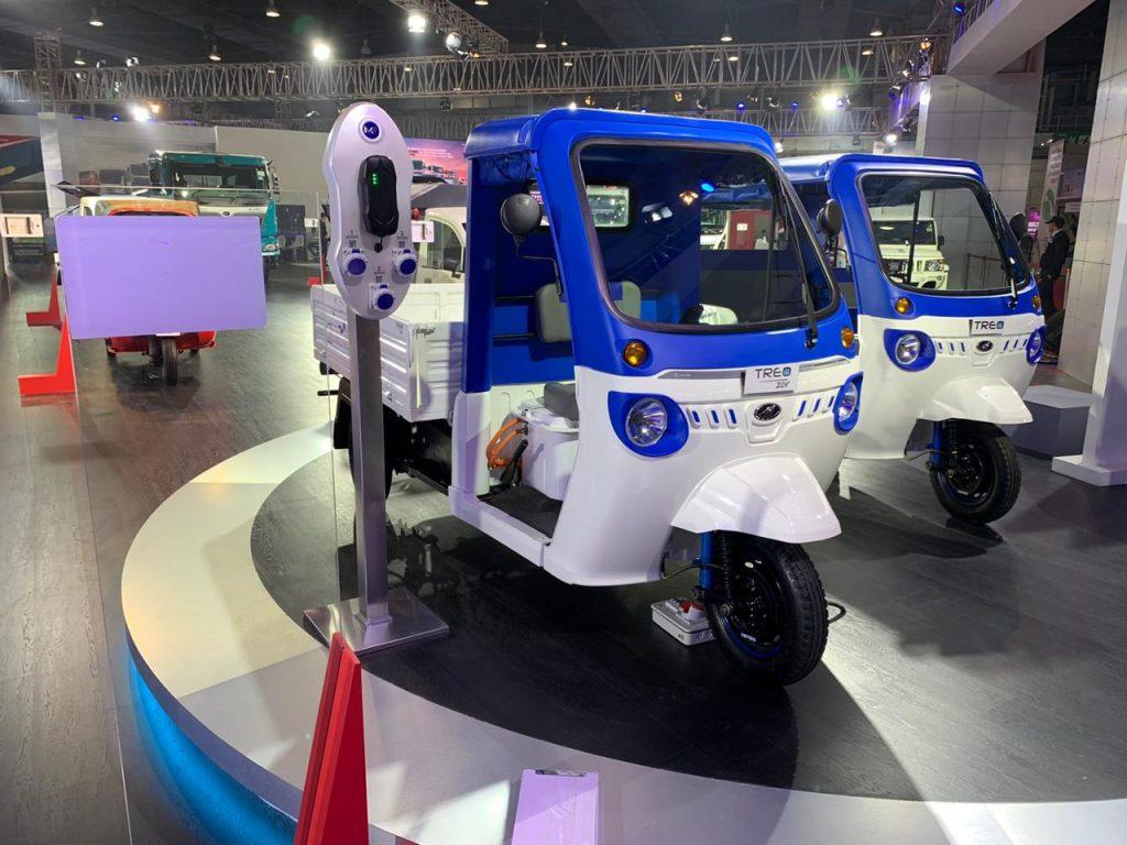 Mahindra Treo Zor load carrier front three quarter view - Auto Expo 2020