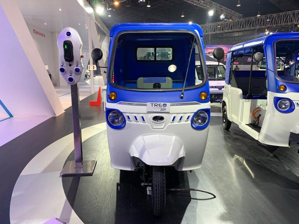 Mahindra Treo Zor load carrier front view - Auto Expo 2020