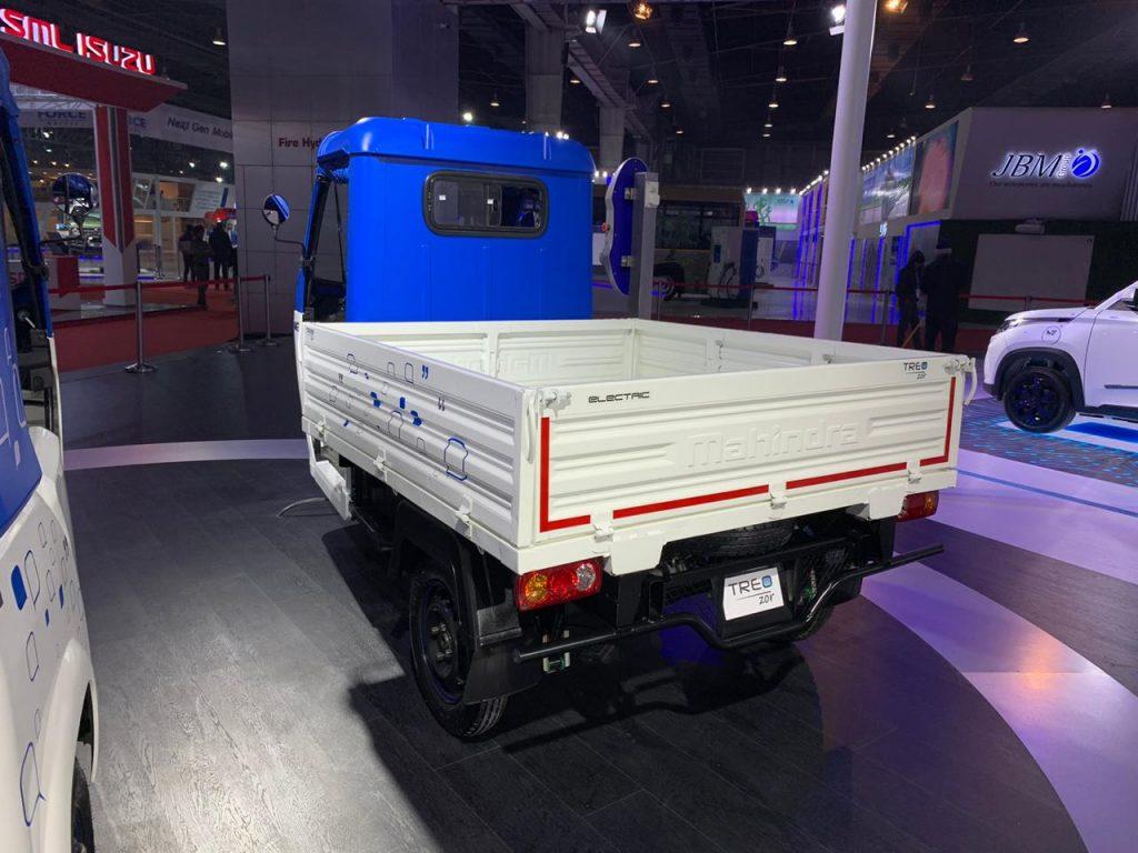 Mahindra Treo Zor load carrier rear three quarter view 1 - Auto Expo 2020