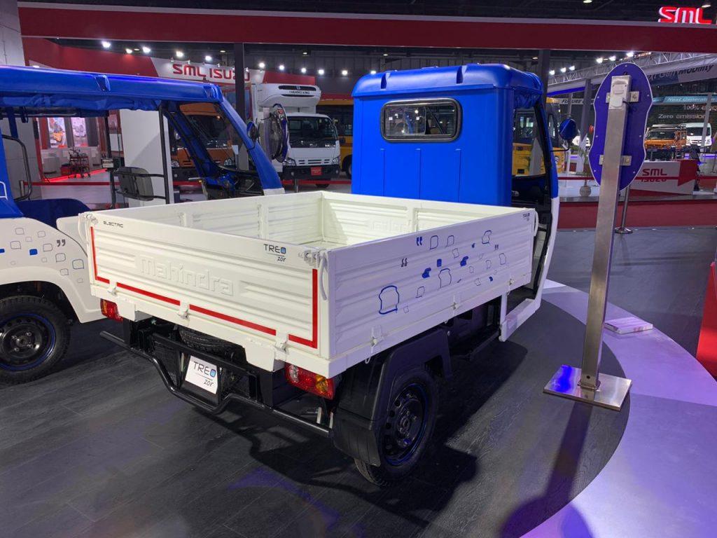 Mahindra Treo Zor load carrier rear three quarter view 2 - Auto Expo 2020