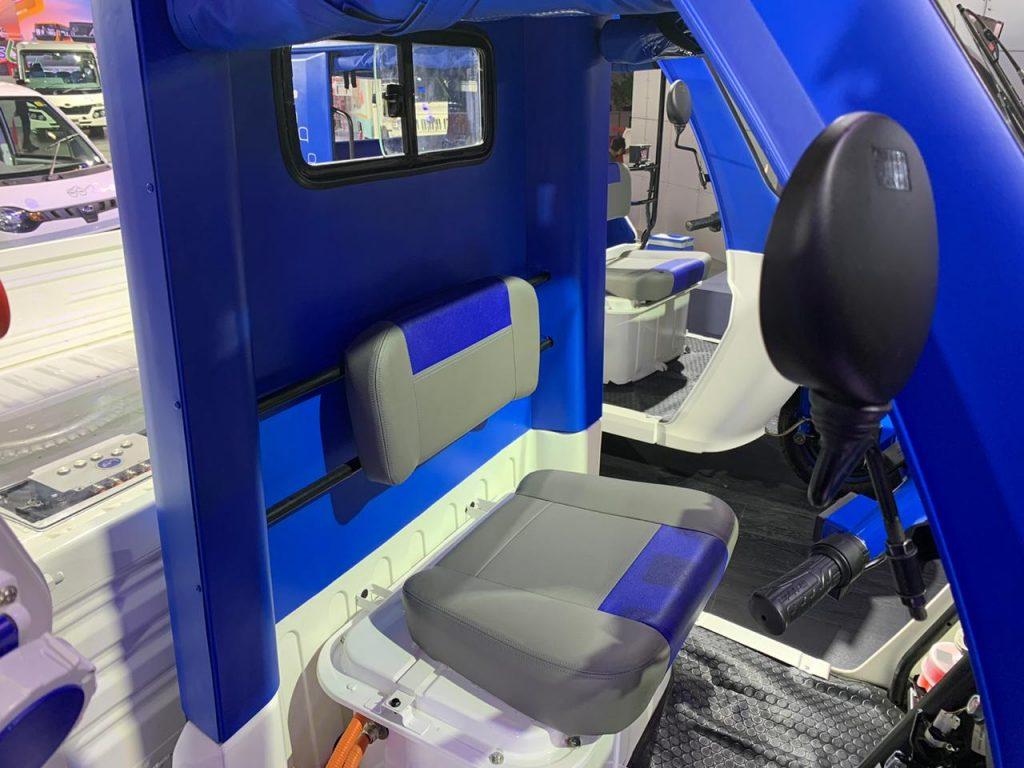 Mahindra Treo Zor load carrier seat - Auto Expo 2020