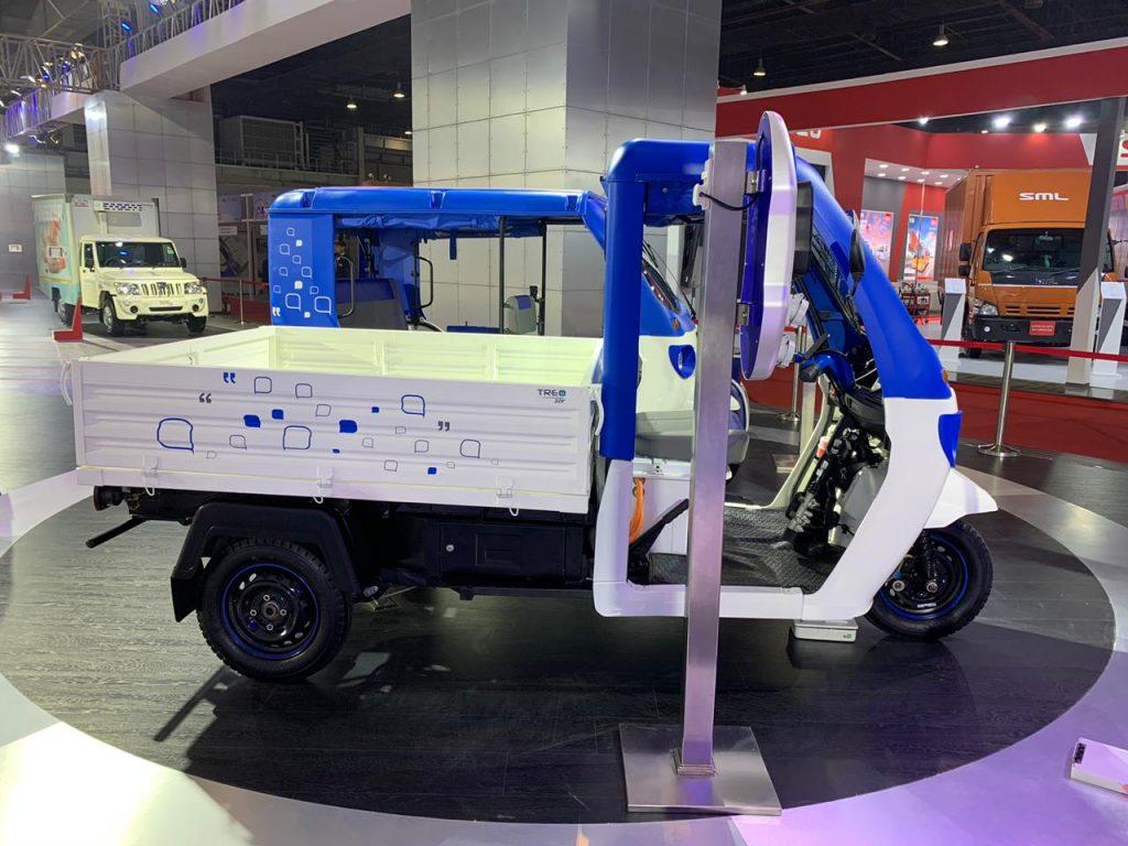 Mahindra Treo Zor load carrier side view - Auto Expo 2020