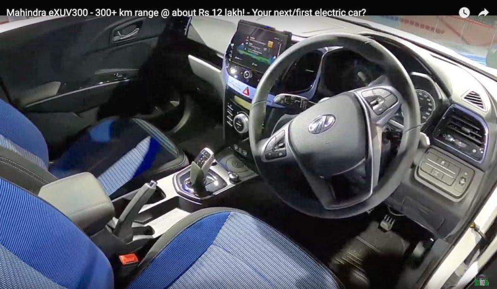 Mahindra XUV300 electric interior