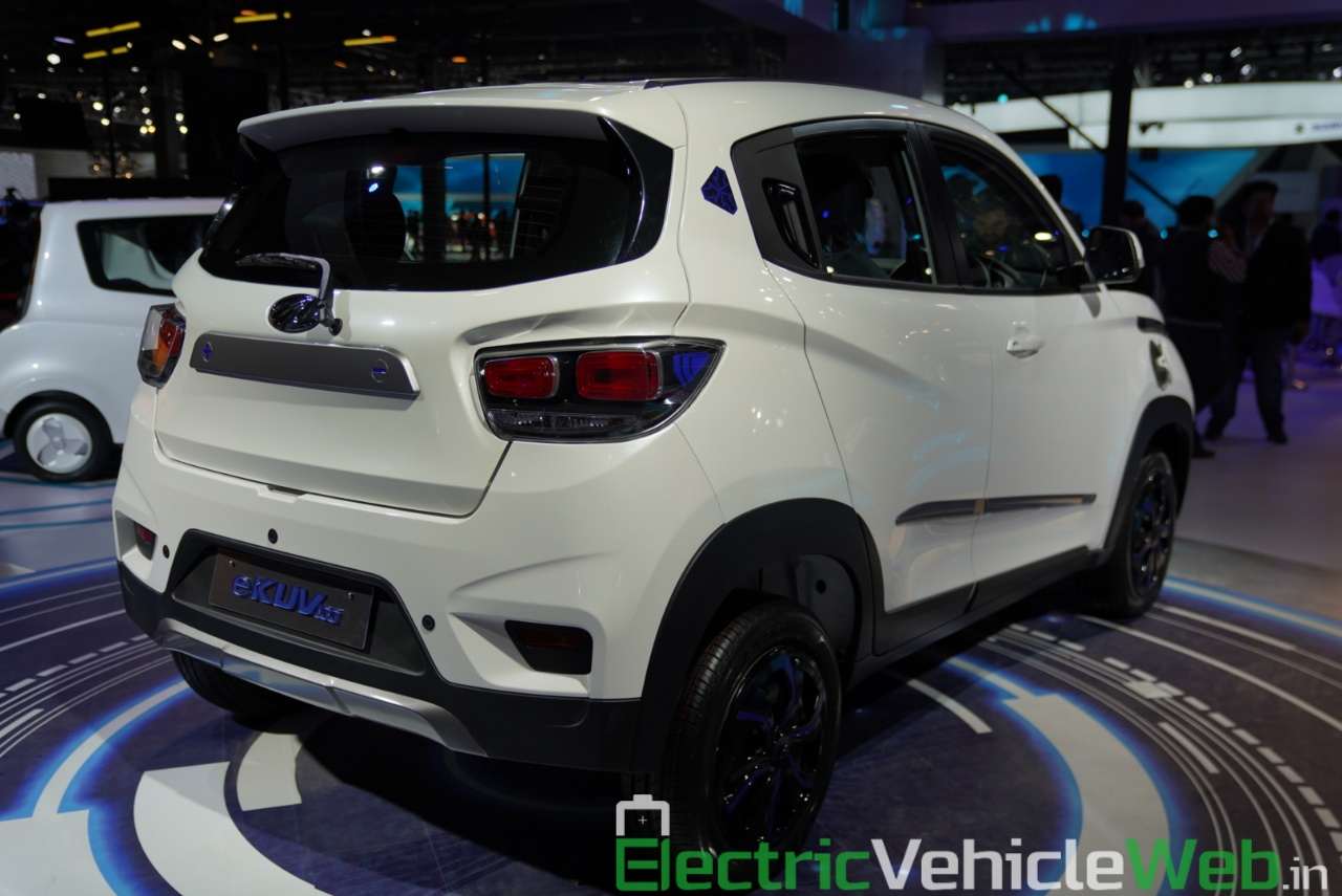 Mahindra eKUV100 rear three quarter view 1 - Auto Expo 2020