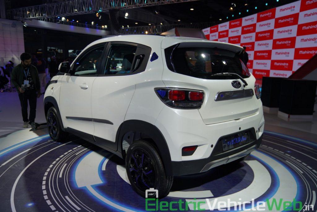 Mahindra eKUV100 rear three quarter view 2 - Auto Expo 2020