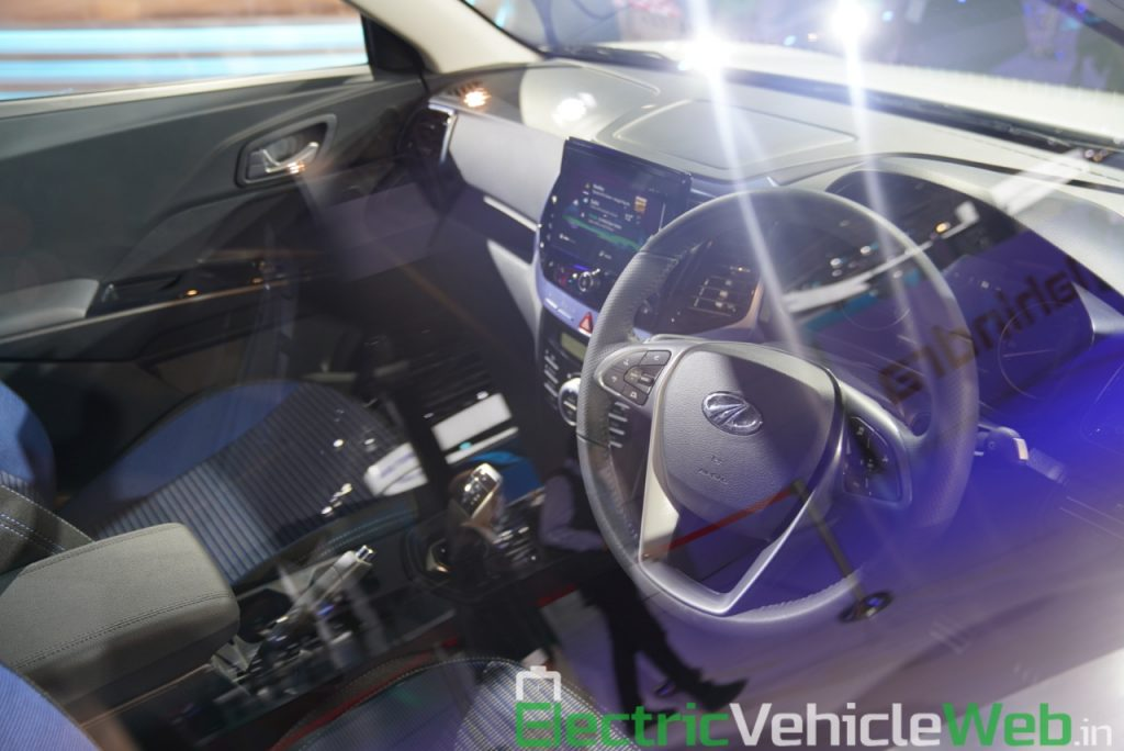 Mahindra eXUV300 dashboard - Auto Expo 2020
