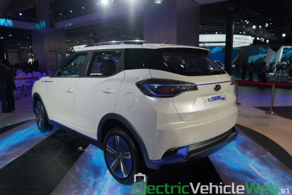 Mahindra eXUV300 rear three quarter view 2 - Auto Expo 2020