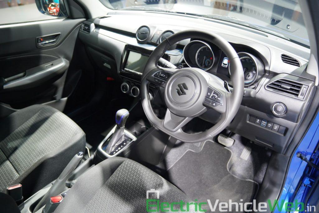 Maruti Suzuki Swift Hybrid dashboard - Auto Expo 2020