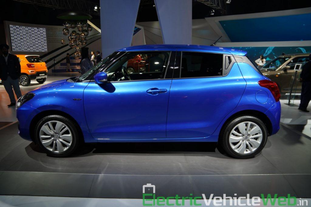 Maruti Suzuki Swift Hybrid side view - Auto Expo 2020