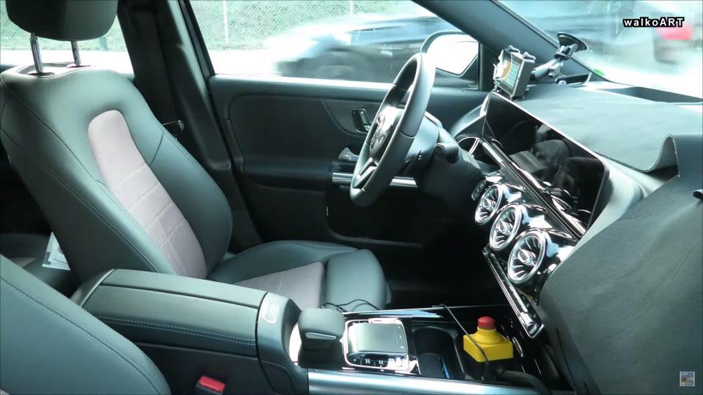 Mercedes EQA spied interior