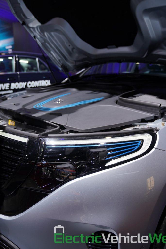Mercedes EQC bonnet at Auto Expo 2020