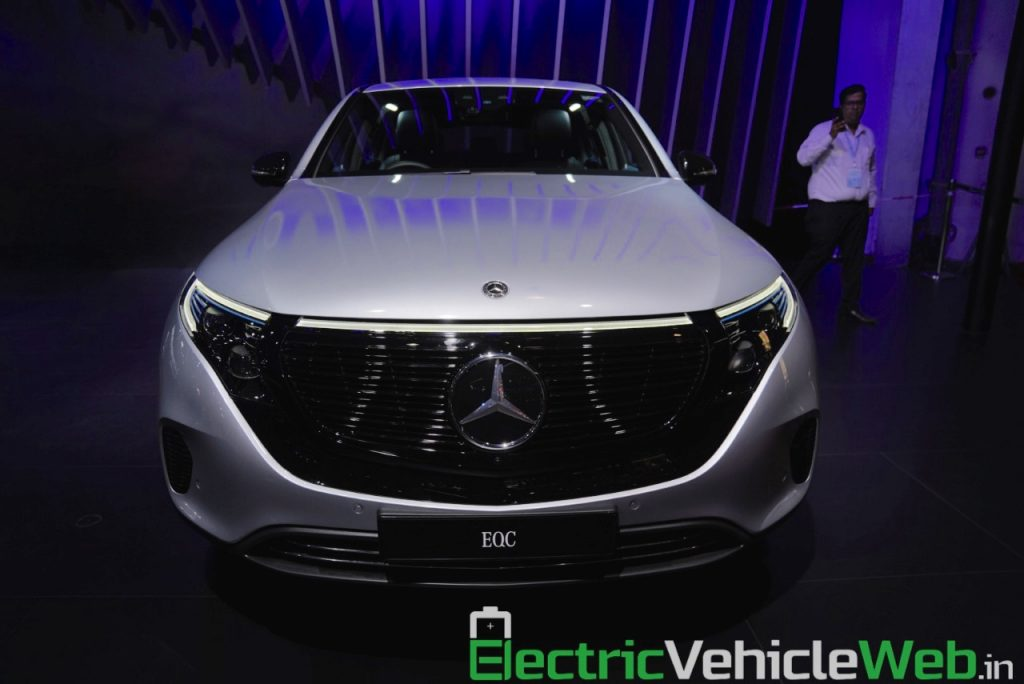 Mercedes EQC front at Auto Expo 2020
