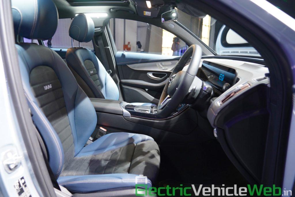 Mercedes EQC front seats at Auto Expo 2020