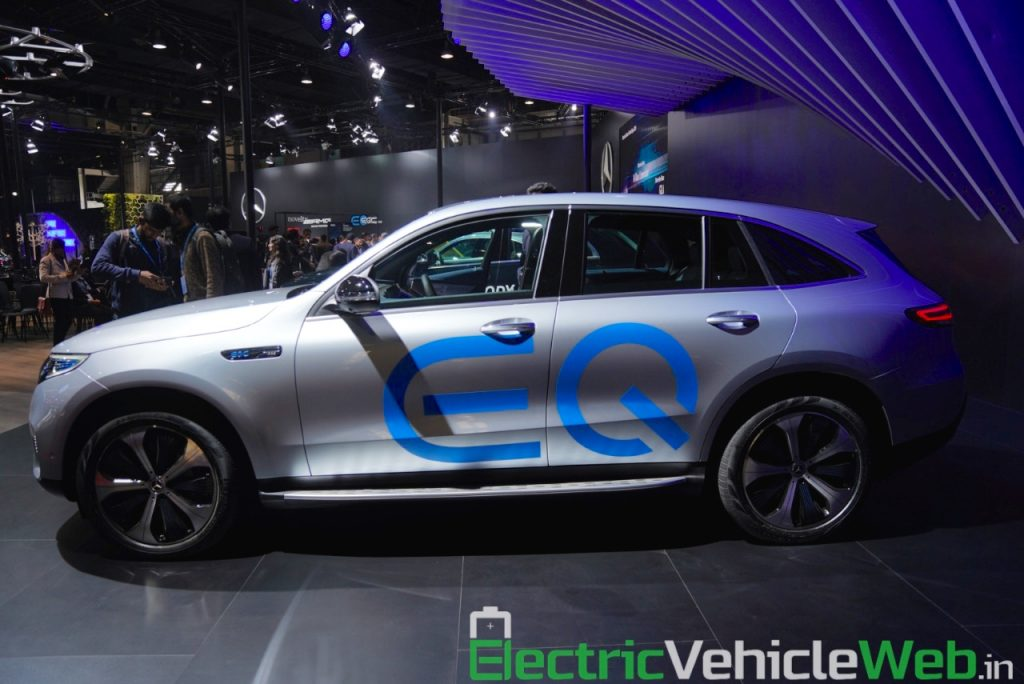 Mercedes EQC side at Auto Expo 2020