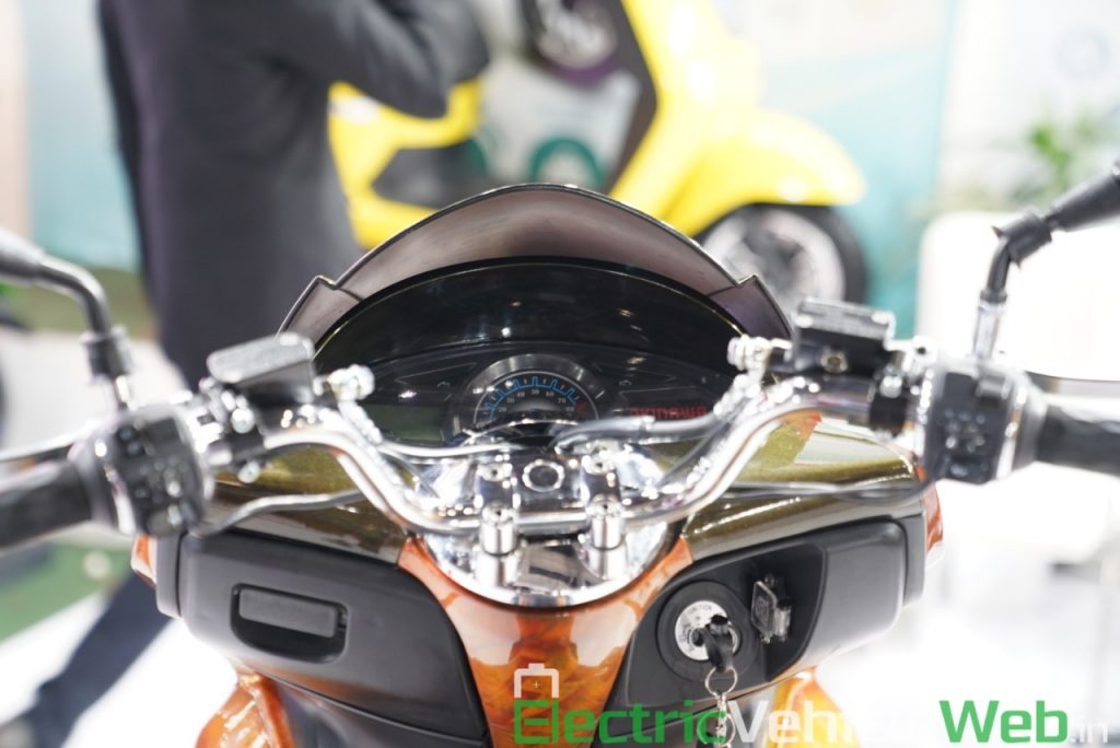 Okinawa Cruiser instrument cluster - Auto Expo 2020 Live