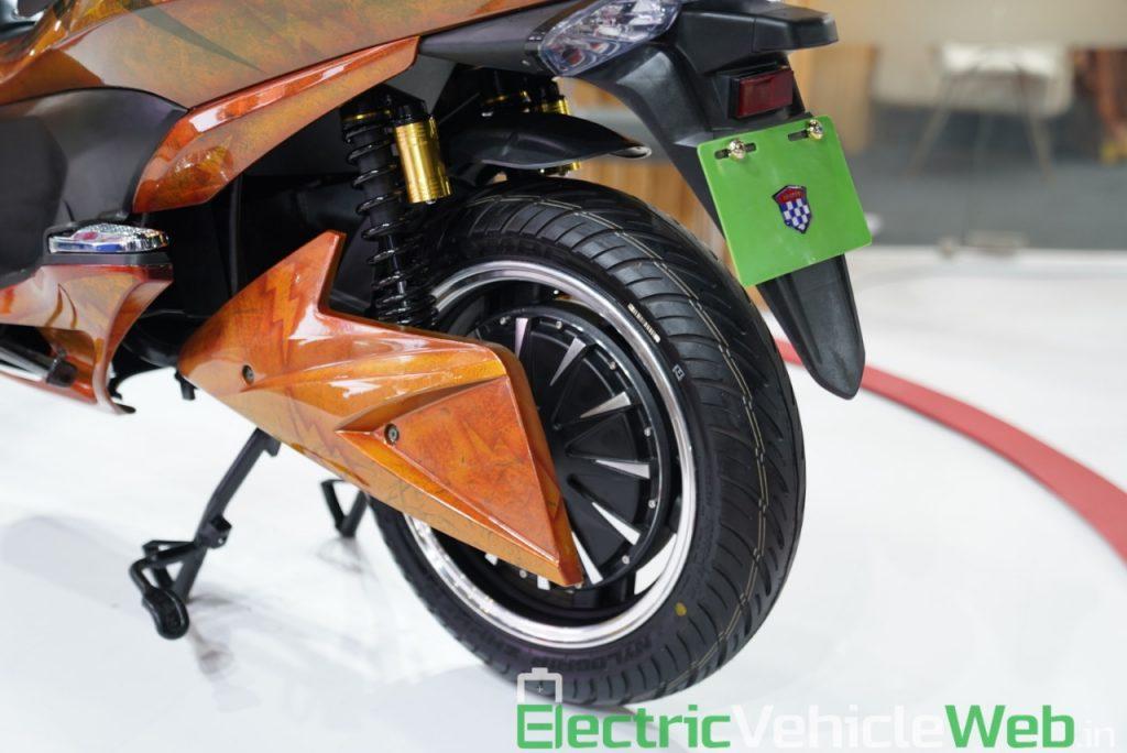Okinawa Cruiser rear wheel - Auto Expo 2020 Live