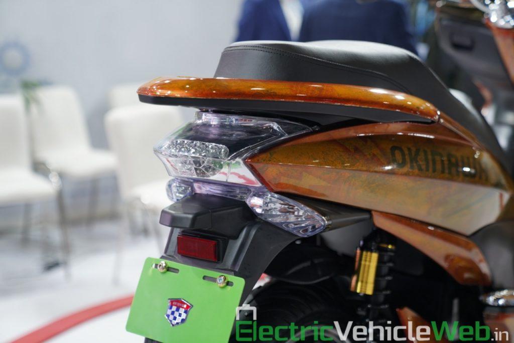 Okinawa Cruiser tail light - Auto Expo 2020 Live