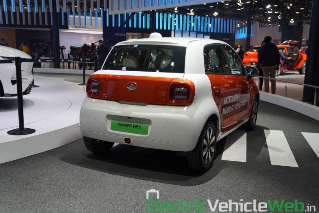 Ora R1 Level 4 Autonomous rear view - Auto Expo 2020