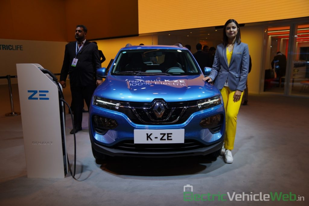 Renault Kwid electric (K-ZE) front view - Auto Expo 2020