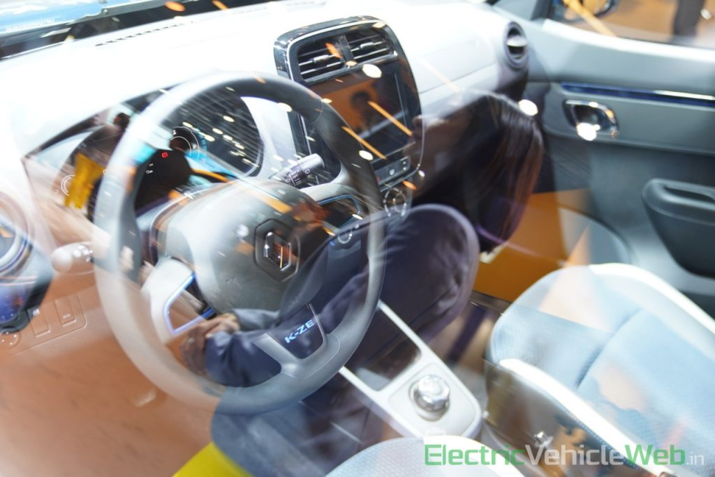 Renault Kwid electric (K-ZE) interior dashboard - Auto Expo 2020