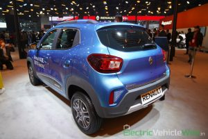 Renault Kwid electric (K-ZE) rear three quarter view - Auto Expo 2020