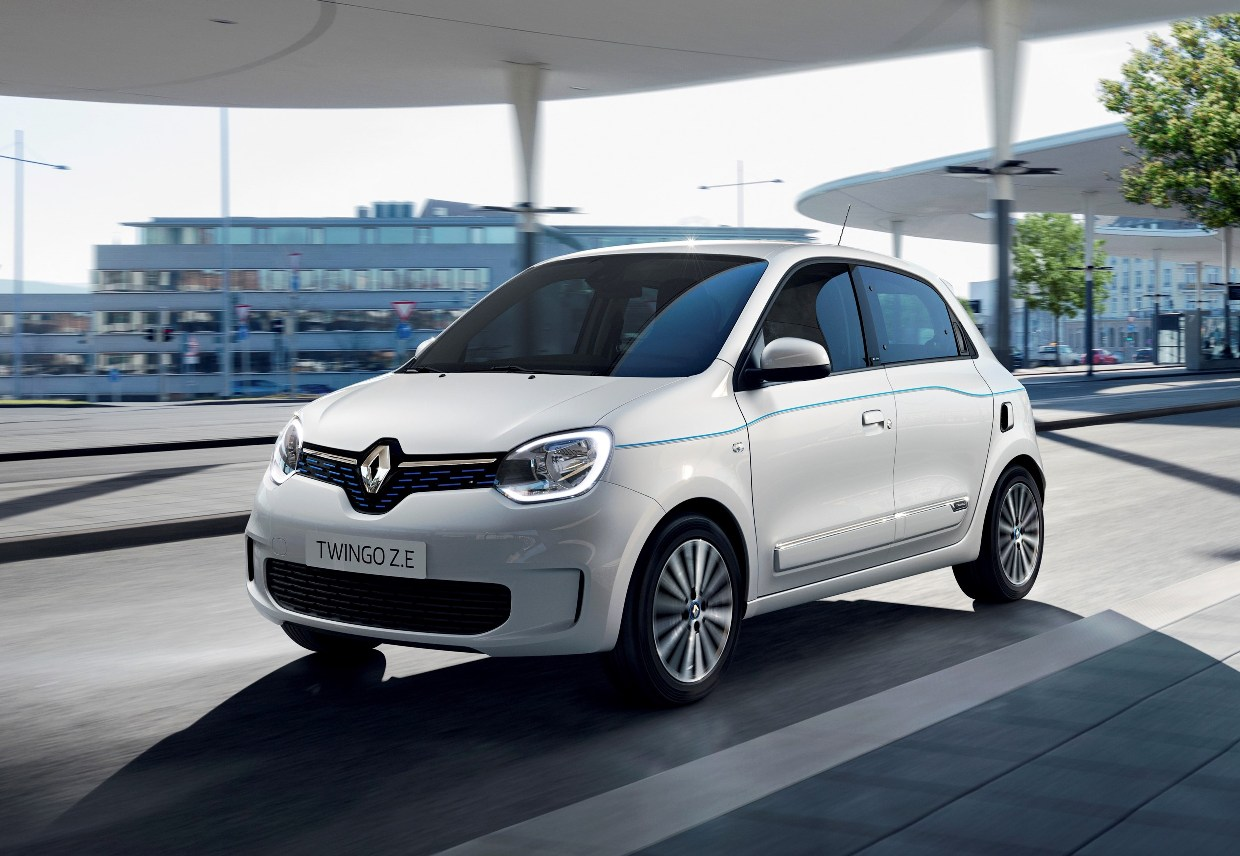 Renault Twingo ZE front three quarter view