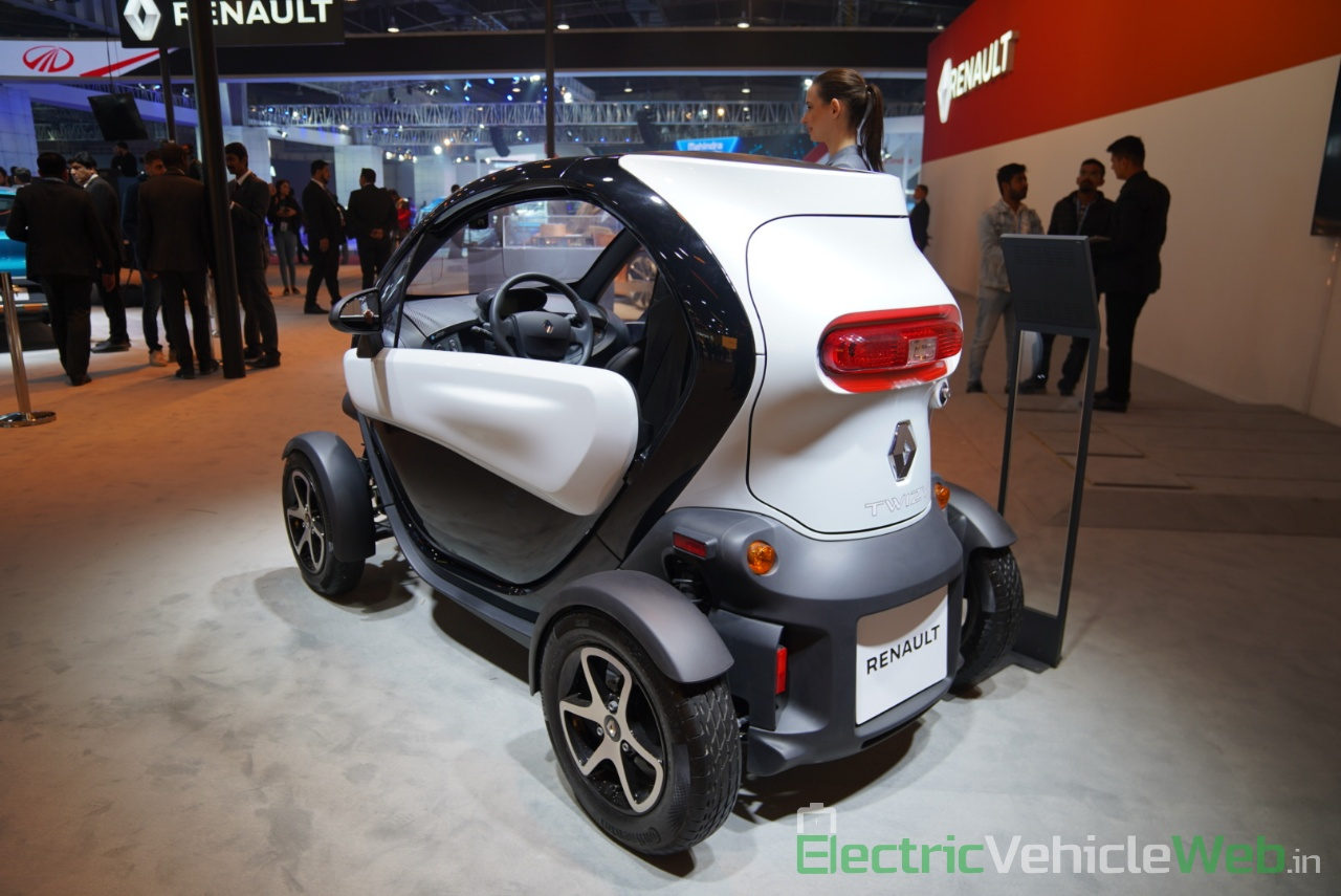 Renault Twizy rear three quarter view - Auto Expo 2020