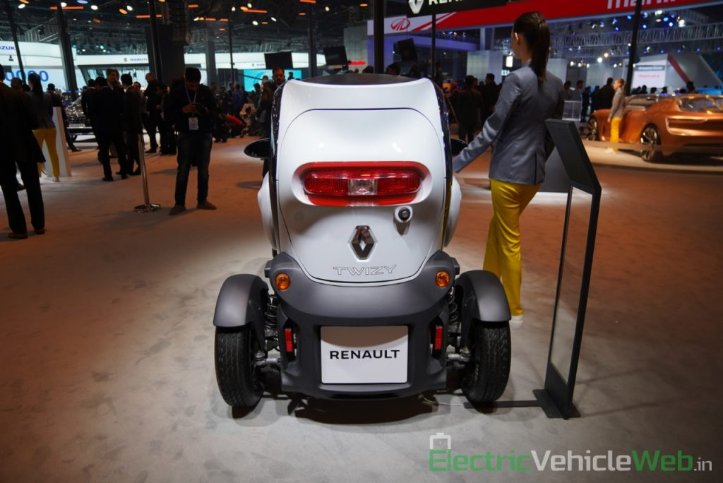 Renault Twizy rear view - Auto Expo 2020