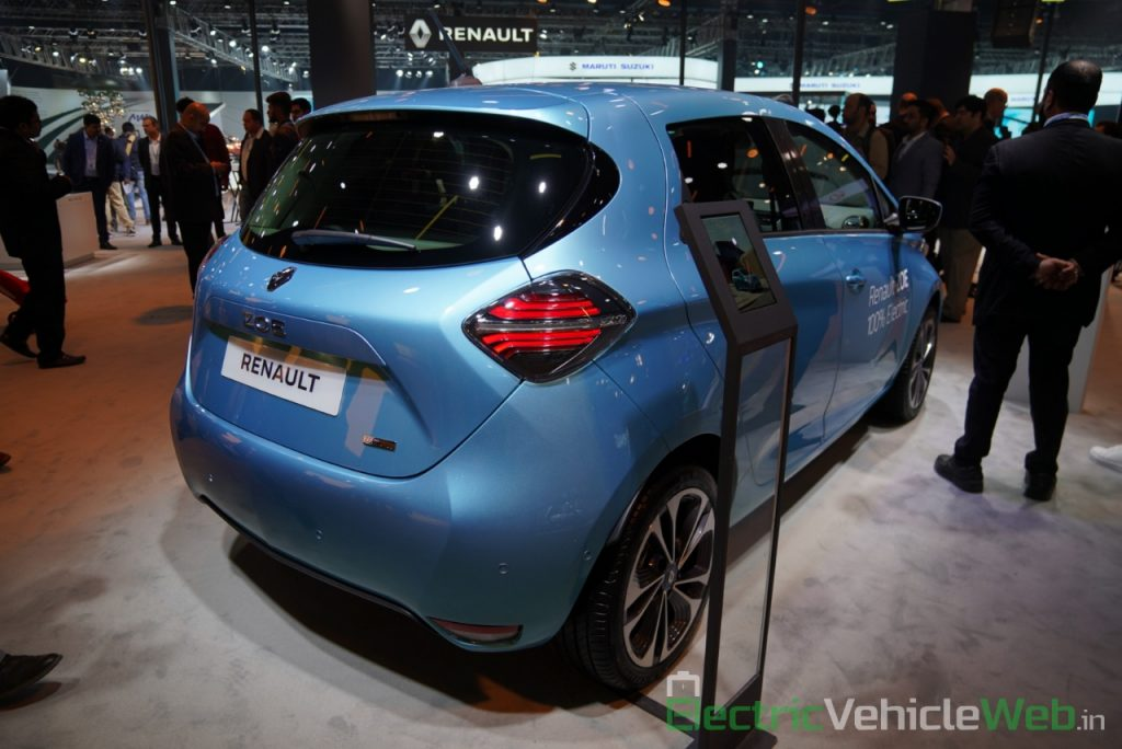 Renault Zoe Electric rear three quarter view 2 - Auto Expo 2020