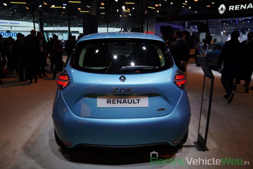 Renault Zoe Electric rear view - Auto Expo 2020