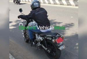 Royal Enfield Hunter-Explorer spied testing