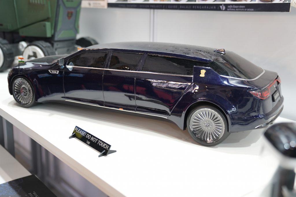 Tata Garuda Presidential Limousine rear three quarter view - Auto Expo 2020