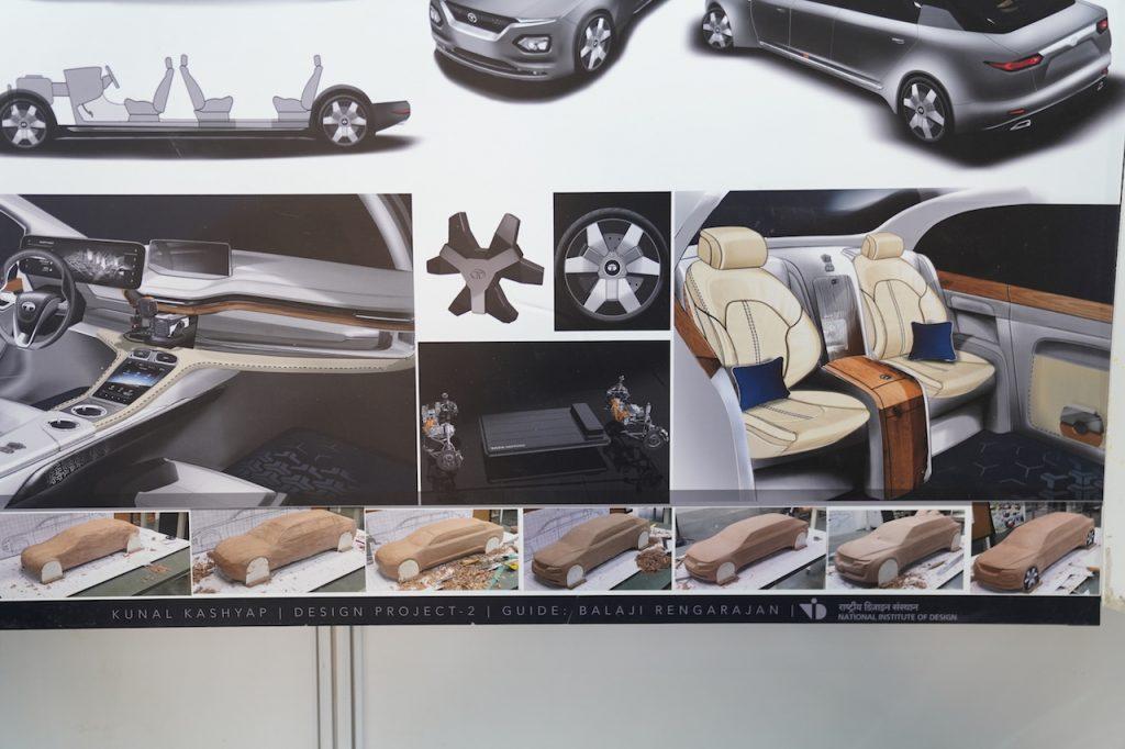Tata Garuda electric presidential car sketches and concept