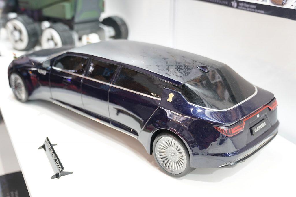 Tata Garuda electric presidential car top view