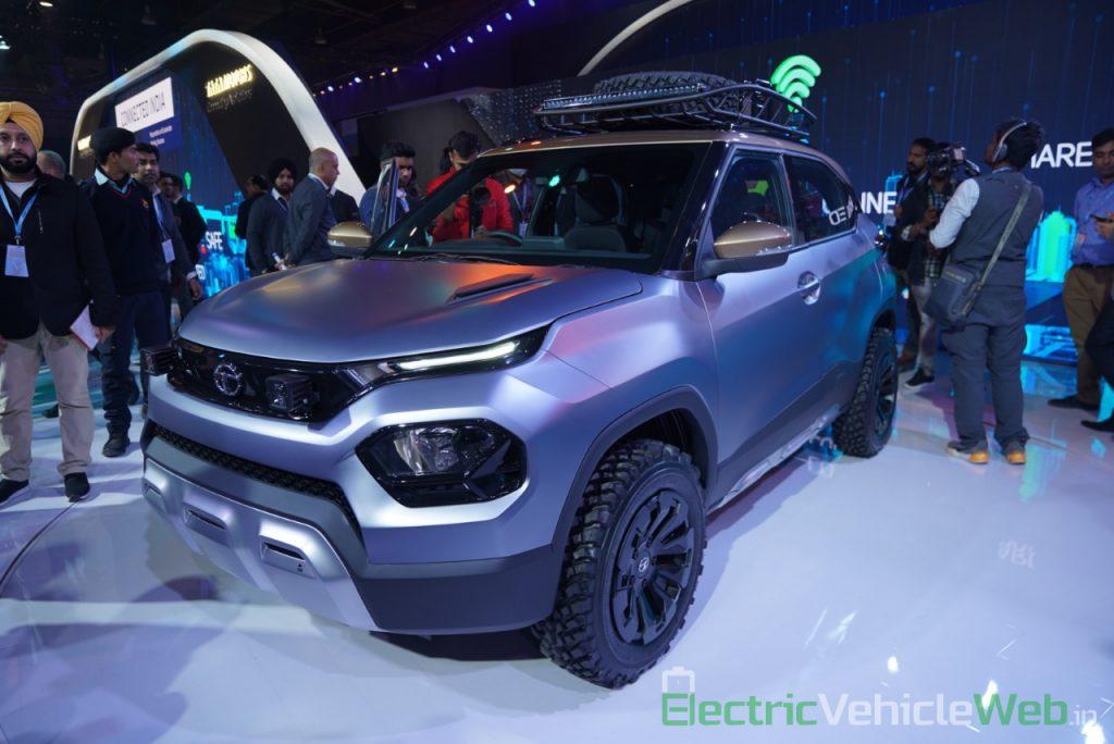 Tata HBX Concept front three quarter view