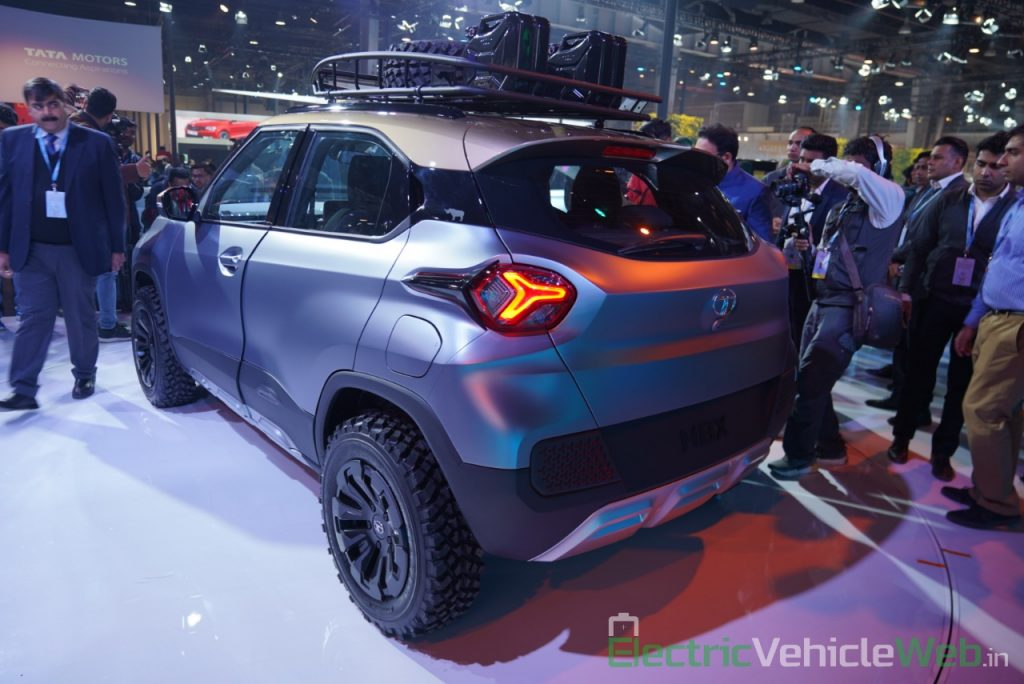 Tata HBX Concept rear three quarter view - Auto Expo 2020