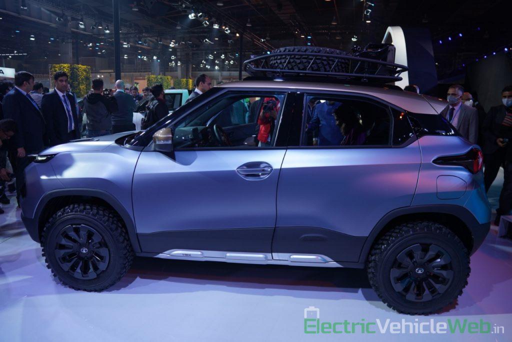 Tata HBX Concept side view - Auto Expo 2020